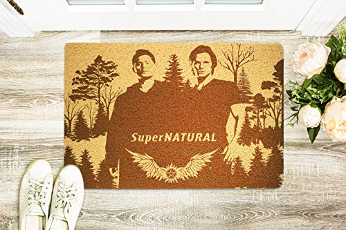 Supernatural 24x16 inch Doormat Front Door Non-Slip Rubber Welcome Floor Mat Home or Office Decor Holiday Birthday Valentines Day New House Gift for Men Husband Boyfriend Boss Coworker -