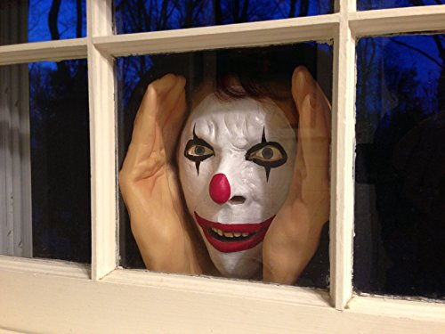 Scary Peeper - Clown Halloween Decoration - Giggle - the True-to-Life Window Prop
