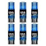Gillette Mach3 Shaving Gel Cream Extra Comfort Travel Size 72mL 2.5oz (6 Pack)