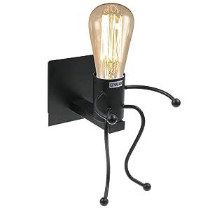 Lampes Murales Lumière industrielle lumière rétro Creative E27 Iron Art Art déco pour salon, chambre à coucher lampe murale
