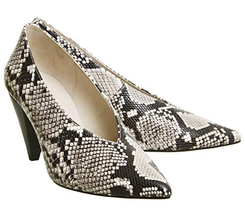Courts Natural Snake Cone Office Motor Leather Heel w6C86paxq