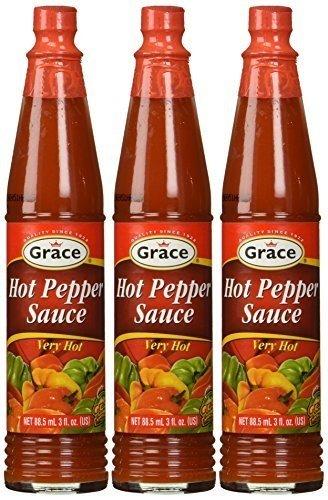 Grace Hot Pepper Sauce 3 FL Oz 3pk