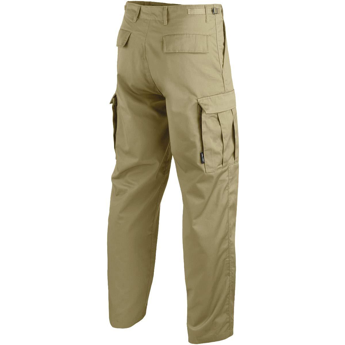 43a854238b76d8 Mil-Tec BDU Ranger Combat Trousers Khaki: Amazon.co.uk: Clothing