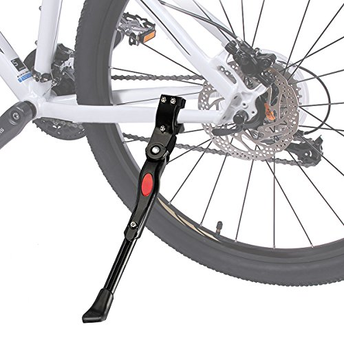 (Fypo Bike Kickstand Bike Stand, Aluminum Alloy Bicycle Kickstand Accessories for Kids and Adults, Rear Mount Side Stand for Mountain Bike/Road Bike/City Bike/BMX/MTB-24-27.5