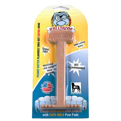 Bullibone Dog Chew Toys: Durable Dog Toys for Large Dogs and Aggressive Chewers. Long Lasting Peanut Butter Flavored Dog Chews Big Dogs Love