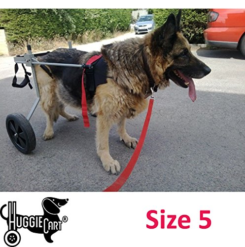 Huggiecart Dog Wheelchair for Dog 3-99 lbs 8 Sizes to Select to Fit Your Dog (5-Large 65-99 lbs)