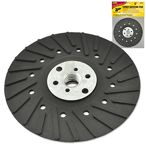 IVY Classic 42382 5-Inch Turbo Backing Pad with 5/8-Inch - 11 Thread Locking Nut, -
