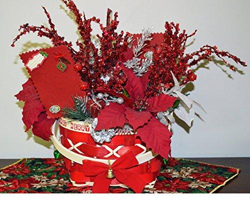 Christmas Floral Arrangement, Centerpiece, Table Decoration,Photo Holder, Remember , Ready to Ship!