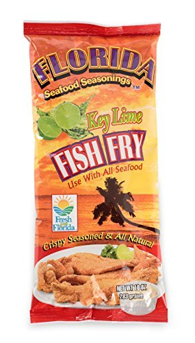 Fish Fry Seasoning by Florida Seafood Seasonings - 2 Pack x 10 oz - Key Lime Flavored Fish Batter Seasoning