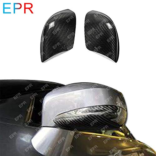 (Pukido for Nissan R35 GTR Carbon Fiber Lower Mirror Cover GTR Body Kit Car Styling Car Tuning Part for GTR R35 Mirror Cover Racing)