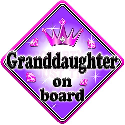 GEM GRANDDAUGHTER Baby on Board Car Window Sign JTO