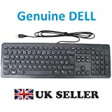 Genuine Original DELL USB Multimedia Keyboard KB213 BLACK SLIM , NEW Model , UK Layout , QWERTY , Brand NEW , Dell P/Ns : HXXHG , 19G9T , FREE DELIVERY