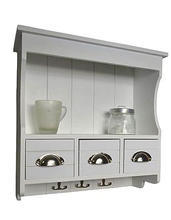 Küchenregal  Livitat LV1049 Küchenregal, Holz, 18 x 50 x 50 cm, weiß: Amazon.de ...