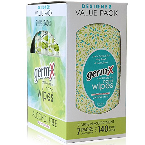 Antibacterial Wipes, Designer Value Pack, 20 Count (Pack of 7) (Designer Value Pack)