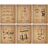 Beer Patent Wall Art Prints - Set of Six Vintage Bar Photos