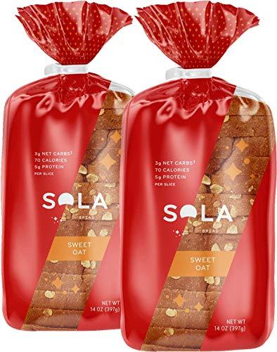 Honey Oat Bread - SOLA Sweet Oat Low Carb Sandwich Bread Loaf (2 Pack)