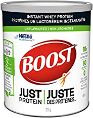 BOOST Just Protein Unflavoured Whey Protein Powder, 227g canister