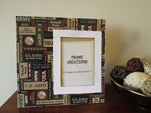 5x7 Army Themed - Hand Decorated Picture Frame (Decoupage Photo Frame)