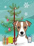 Caroline's Treasures BB1632GF Christmas Tree and Jack Russell Terrier Garden Flag, Small, Multicolor For Sale