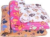 Cheap OUUD Soft Fleece Dog Puppy Cat Bed Blankets Winter Warm Pet Bed Mats (Random Colour,1PC ) (L)