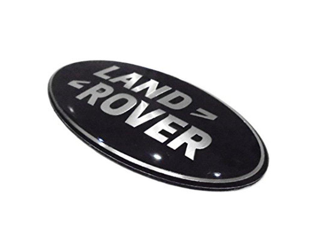86/mm x 43/mm Tama/ño Land Rover negro y plata delantera parrilla emblema