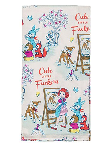 Blue Q Cute Little Fuckers Dish Towel by Blue Q