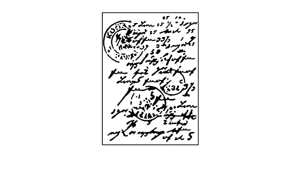 10.8 x 14.6 x 0.11 cm Carabelle Studio Embossing Folder-Template Mail Post Hand Lettering