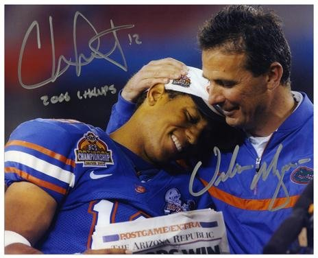 Urban Meyer & Chris Leak Florida Gators Autographed 8' x 10' Photograph with'2006 Champs' Inscription - Fanatics Authentic Certified