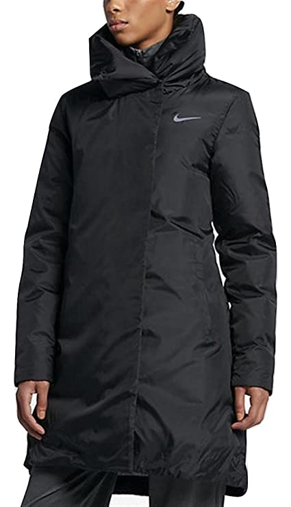 ccbd977f0e Image Unavailable. Image not available for. Color  Nike Women s Size Small  Black 33 quot  Long Down Coat
