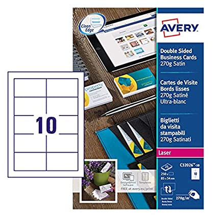 Avery C32026-10 - Tarjetas de visita (para impresora láser)