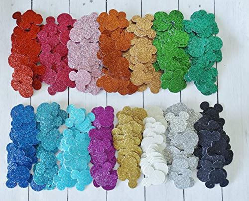 Mickey Mouse Glitter Paper Party Confetti Decoration 1 Inch 300 Pieces Choice of Colors