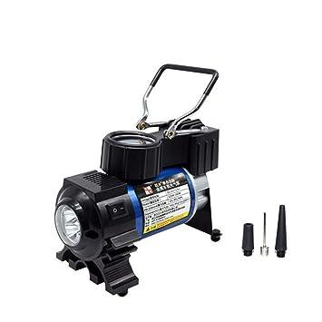 GEGEQUNAERYA Mini LED Portable Metal Súper Flujo DC 12 V Bomba de Aire del Coche Bomba Inflable del Coche Compresor de Aire Auto Inflador de Neumático ...