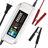 ERAYAK 6V 12V 1A Smart Battery Charger Fully Automatic Car Maintainer 3-Stage Trickle Charger with Detection & Repair Function for Boat Motorcycle Lawn Mower