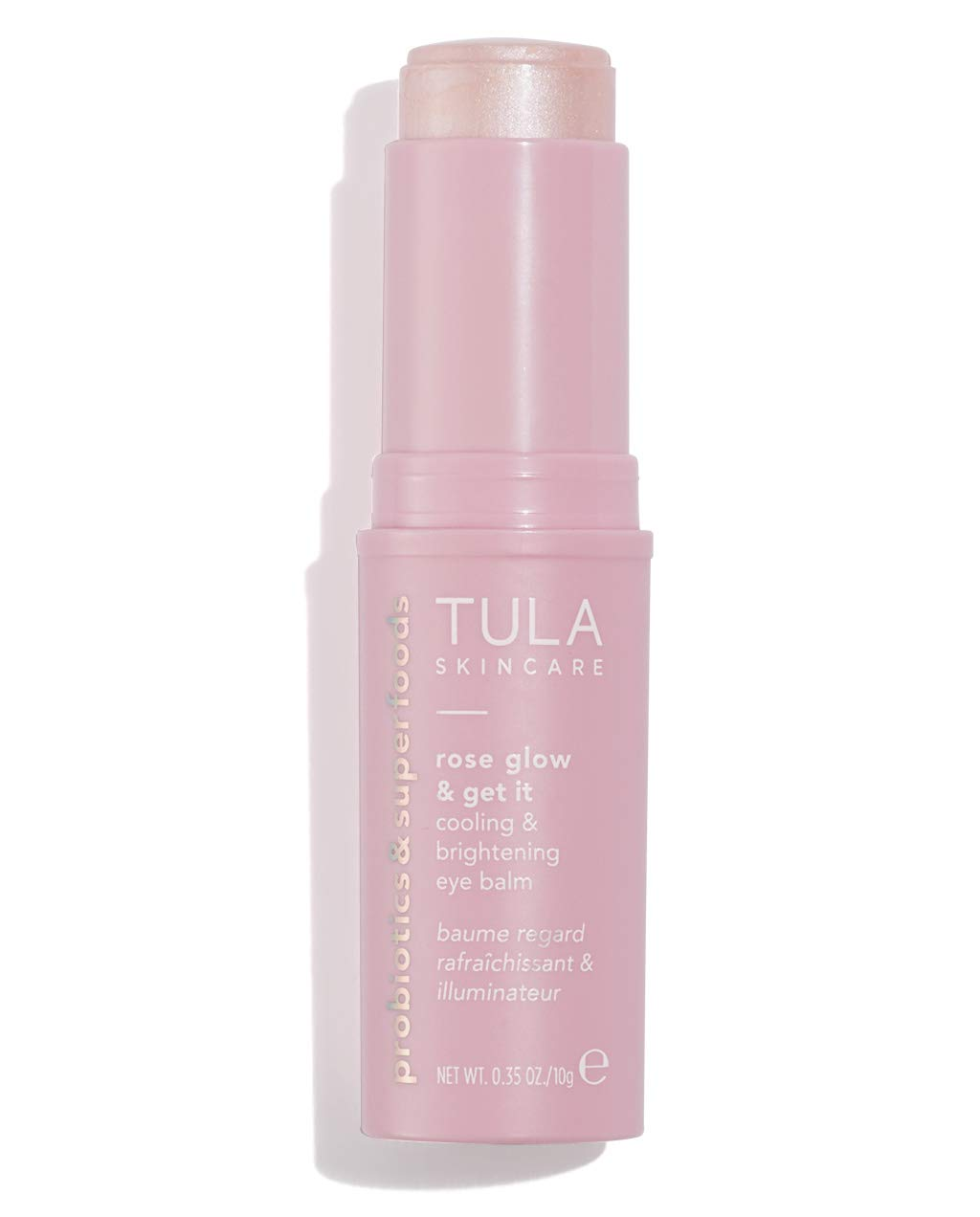 TULA Probiotic Skin Care Rose Glow & Get It Cooling & Brightening Eye Balm | Dark Circle Under Eye Treatment, Instantly Hydrate and Brighten Undereye Area, Perfect to Use On-the-go | 0.35 oz by TULA
