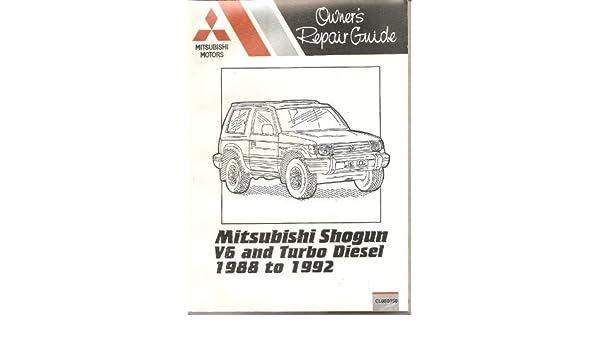 Mitsubishi Shogun Owners Repair Guide: V6 and Turbo Diesel Models, 1988 to 1992 Pocket Mechanic by Peter Russek 1992-12-06: Amazon.es: Peter Russek: Libros