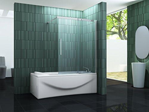 Puerta corrediza de BATCH – Mampara de ducha 120 x 150 (bañera ...