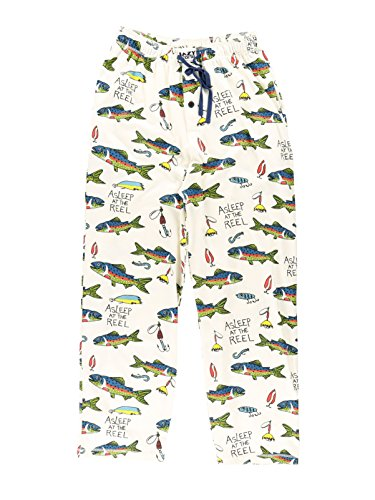 Asleep at The Reel Men's Pajama Pants Bottom by LazyOne | Pajama Bottom for Men (X-Large)