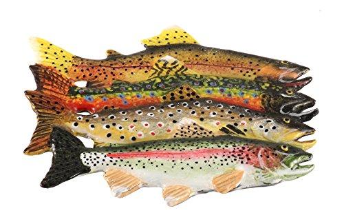 Trout Grand Slam Fish Premium Hand Painted Rare Earth Refrigerator Magnet Gift, FP012PRM (Painted Hand Grande Fish Design)