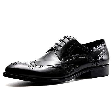 Männer Casual Echtes Leder Schuhe Business Brogue Derbys Schuh Für Jungen  Bankett Offizielle Arbeit  Amazon.de  Bekleidung 7817e8c508