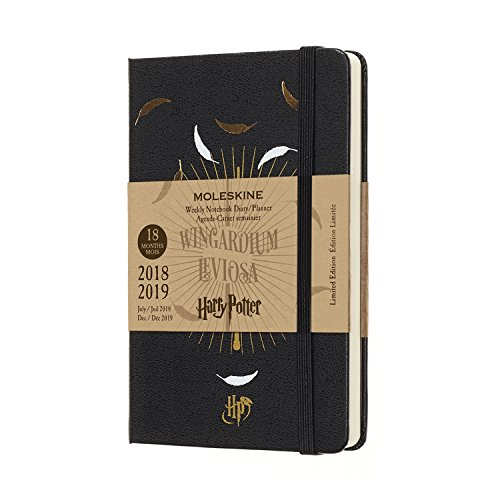 Moleskine 2018-2019 18M Limited Edition Harry Potter Pocket Weekly Notebook Black Hard Cover (3.5 x 5.5) Moleskine Weekly Planner for Students, Professionals, for Organizing and Planning