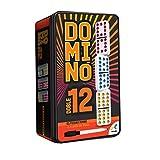 Novelty Dominó Doble 12, 91 Fichas Pasta, Caja Metálica