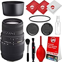 Sigma 70-300mm f/4-5.6 DG Telephoto Zoom Lens for Nikon Digital SLR Cameras with UV Filter and Cleaning Kit
