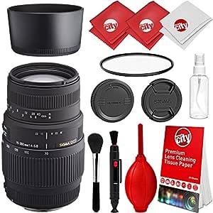Sigma 70 - 300 mm f/4 - 5,6 DG teleobjetivo Zoom Lente para Nikon ...