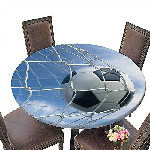 Spider Placemat 3 Man (PINAFORE Picnic Circle Table 3D Rendering of a Soccer Ball in a net for Family Dinners or Gatherings 55