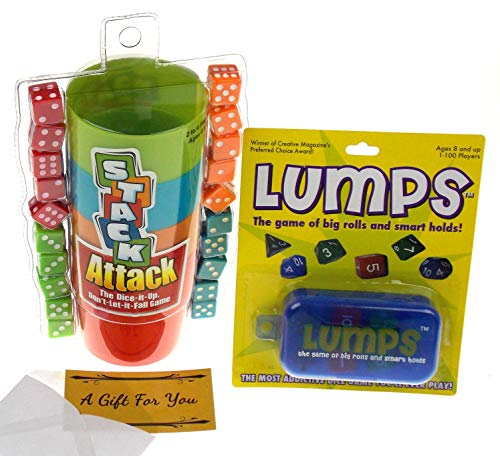 - Lumps (Non Seasonal Edition) & Stack Attack Dice Game Bundle with a Gift Card