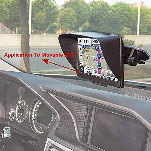 Gps Anti Glare (Zepthus Anti Glare Sun Shade Shield Lens Hood Visor Protector Glare Visor For 7 inch Car Vehicle GPS Navigator Monitor)