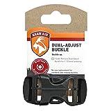 Gear Aid Dual Adjust Buckle Kit, Black, 1-Inch
