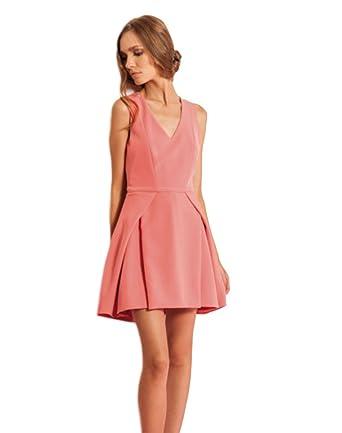 48be916e628e Phard Abito vestito donna corto elegante corallo moda lariga ...