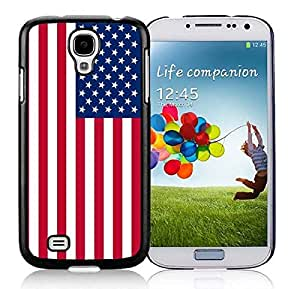 S4 TPU Black Case USA National Flag Soft Silicone Samsung Galaxy S4 Covers by supermalls