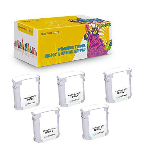 New York TonerTM New Compatible 5 Pack C9428A HP 85 High Yield Inkjet For HP Designjet 30 | 130 . -- Light Cyan